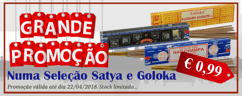 Promoção Incensos - Satya e Goloka